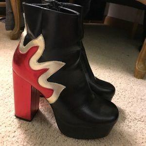 babdc9cfe170 Forever 21 Shoes - NWOT Platform glamorous flame boots size 8